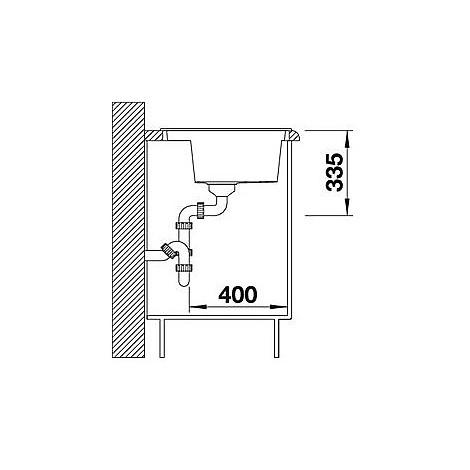1516563 alaros 6 s nero blanco lavello 116x51 1 vasca sgocciolatoio dx e sx silgranit sabbia