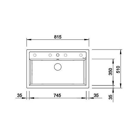1516632 dalago 8 grigio seta blanco lavello 82x51 1 vasca senza sgocciolatoio silgranit sopratop