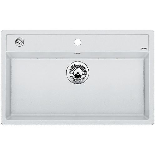 1516633 dalago 8 bianco blanco lavello 82x51 1 vasca senza sgocciolatoio silgranit sopratop