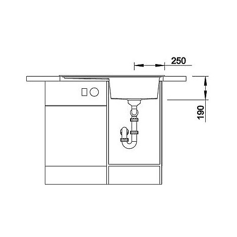 1516670 zenar 45 s antracite blanco lavello 120x61 1 vasca sgocciolatoio a sinistra silgranit