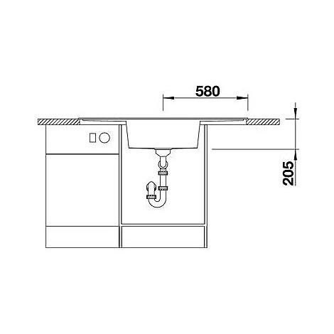1516719 alaros 6 s bianco blanco lavello 116x51 1 vasca sgocciolatoio dx e sx silgranit antracite