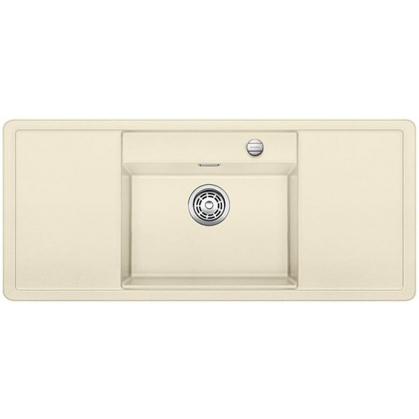 1516724 alaros 6 s bianco blanco lavello 116x51 1 vasca sgocciolatoio dx e sx silgranit jasmine