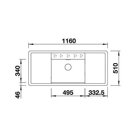1516726 alaros 6 s bianco blanco lavello 116x51 1 vasca sgocciolatoio dx e sx silgranit sabbia