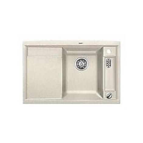 1516782 axia ii 45 s sabbia blanco lavello 78x51 1 vasca sgocciolatoio a sinistra silgranit