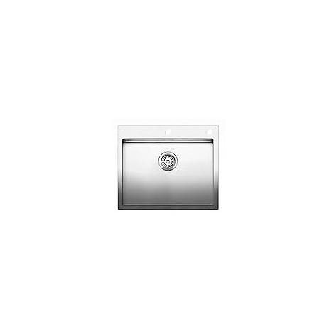 1516797 claron 550-if/a blanco lavello 61x51 1 vasca senza sgocciolatoio inox satinato