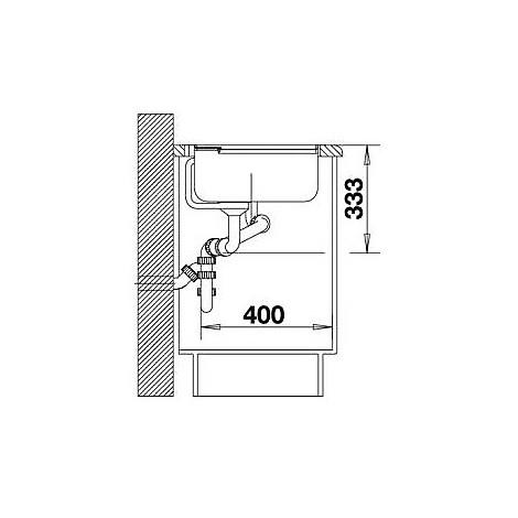 1516841 axia ii 6 s blanco lavello 100x51 2 vasche sgocciolatoio a sx silgranit grigio seta