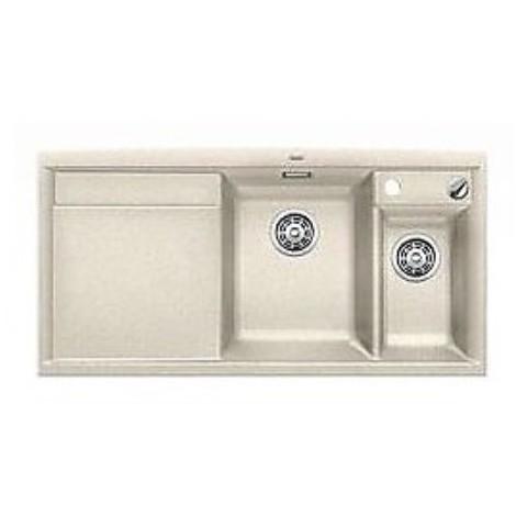 1516846 axia ii 6 s sabbia blanco lavello 100x51 2 vasche sgocciolatoio a sinistra silgranit