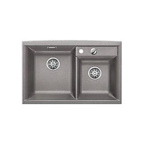 1516883 axia ii 8 alumetallic blanco lavello 79x51 2 vasche senza sgocciolatoio silgranit