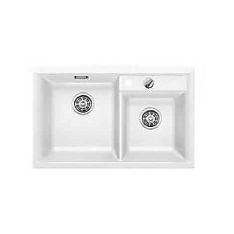 1516886 axia ii 8 bianco blanco lavello 79x51 2 vasche senza sgocciolatoio silgranit