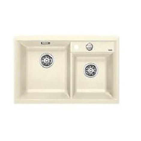1516887 axia ii 8 jasmine blanco lavello 79x51 2 vasche senza sgocciolatoio silgranit