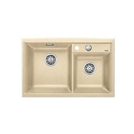 1516888 axia ii 8 champagne blanco lavello 79x51 2 vasche senza sgocciolatoio silgranit