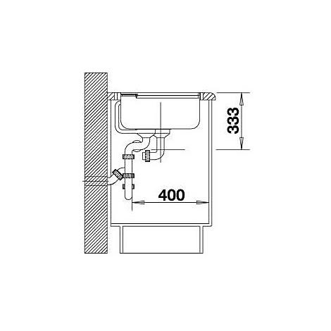 1516892 axia ii 8 s blanco lavello 116x51 2 vasche sgocciolatoio a sx silgranit antracite