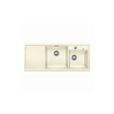 1516897 axia ii 8 s jasmine blanco lavello 116x51 2 vasche sgocciolatoio a sinistra silgranit
