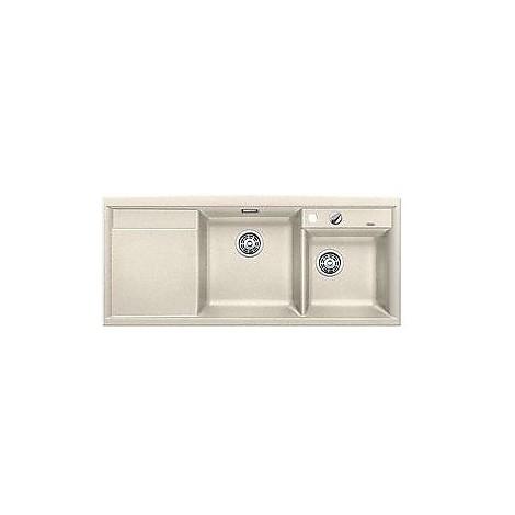 1516899 axia ii 8 s sabbia blanco lavello 116x51 2 vasche sgocciolatoio a sinistra silgranit