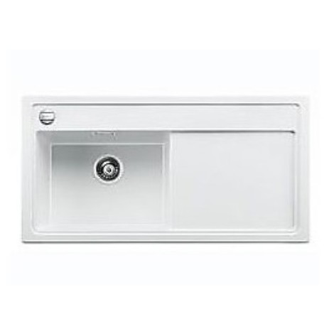 1516953 zenar xl 6 s bianco blanco lavello 100x51 1 vasca sgocciolatoio a destra silgranit sopratop