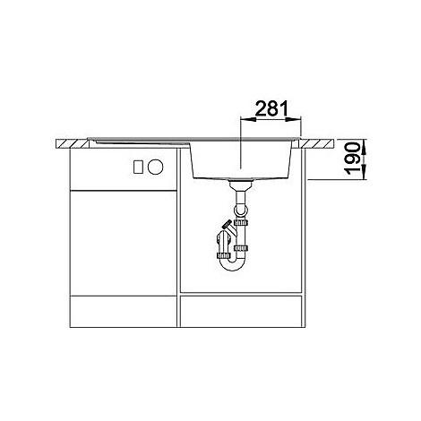 1516961 zenar xl 6 s antrac blanco lavello 100x51 1 vasca sgocciolatoio a destra silgranit sopratop