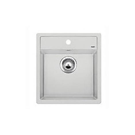 1517159 dalago 45 grigio seta blanco lavello 47x51 1 vasca senza sgocciolatoio silgranit sopratop