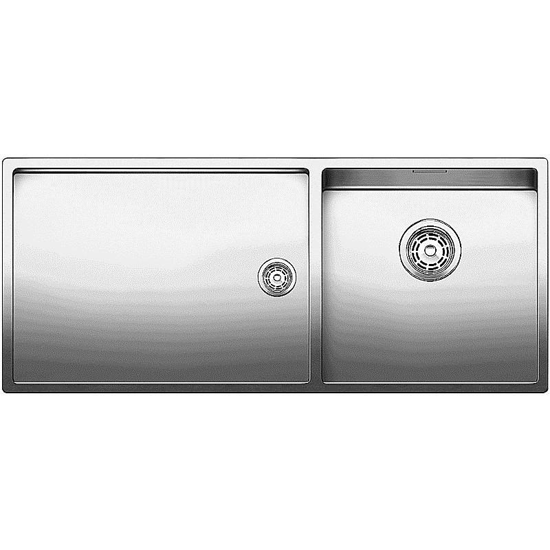 1517232 claron 400/550-t-if blanco lavello 102x44 2 vasche senza sgocciolatoio inox satinato