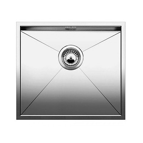 1517242 zerox 450-if 4 mm blanco lavello 49x44 1 vasca senza sgocciolatoio inox satinato