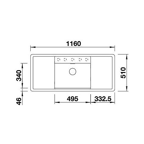 1517284 alaros 6 s bianco blanco lavello 116x51 1 vasca sgocciolatoio dx e sx silgranit tartufo