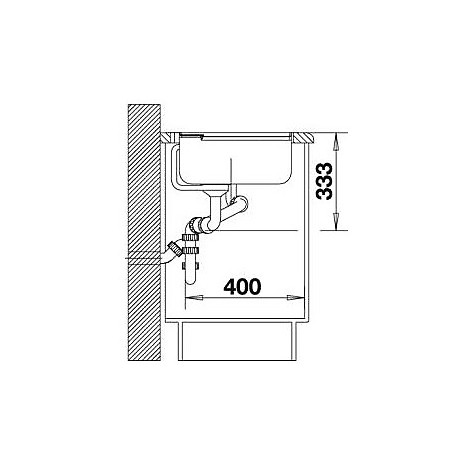 1517291 axia ii 6 s tartufo blanco lavello 100x51 2 vasche sgocciolatoio a sinistra silgranit