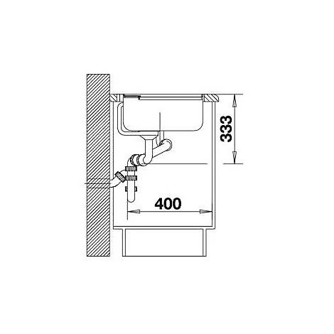 1517292 axia ii 6 s tartufo blanco lavello 100x51 2 vasche sgocciolatoio a destra silgranit