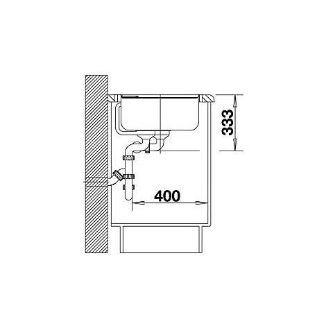 1517296 axia ii 8 tartufo blanco lavello 79x51 2 vasche senza sgocciolatoio silgranit