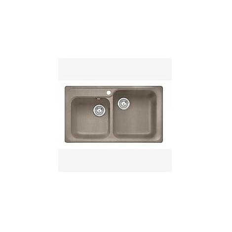 1517312 nova 8 tartufo blanco lavello 86x50 2 vasche senza sgocciolatoio silgranit