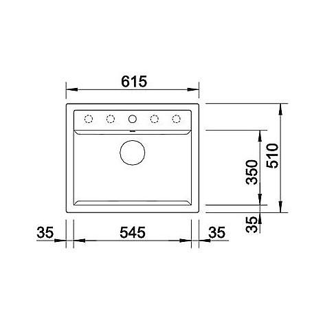 1517320 dalago 6 tartufo blanco lavello 62x51 1 vasca senza sgocciolatoio silgranit sopratop