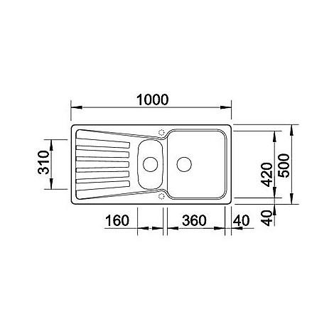 1517379 nova 6 s tartufo blanco lavello 100x50 2 vasche reversibile silgranit