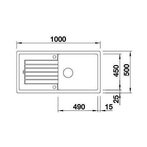 1517571 zia xl 6 s blanco lavello 100x50 1 vasca reversibile silgranit sopratop bianco