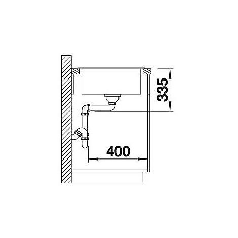 1517576 zia xl 6 s tartufo blanco lavello 100x50 1 vasca reversibile silgranit sopratop