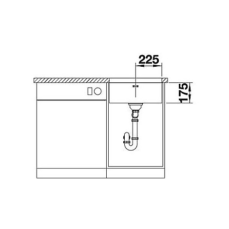 1518203 supra 450-u blanco lavello 48x43 1 vasca senza sgocciolatoio inox