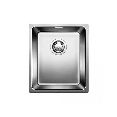 1518307 andano 340-if blanco lavello 38x44 1 vasca senza sgocciolatoio inox satinato