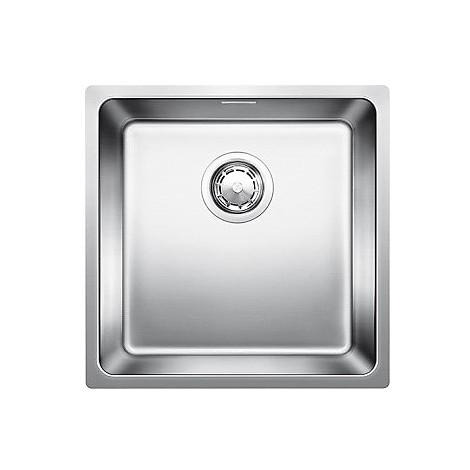 1518311 andano 400-if blanco lavello 44x44 1 vasca senza sgocciolatoio inox satinato