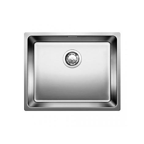 1518313 andano 500-u blanco lavello 54x44 1 vasca senza sgocciolatoio inox satinato sottotop