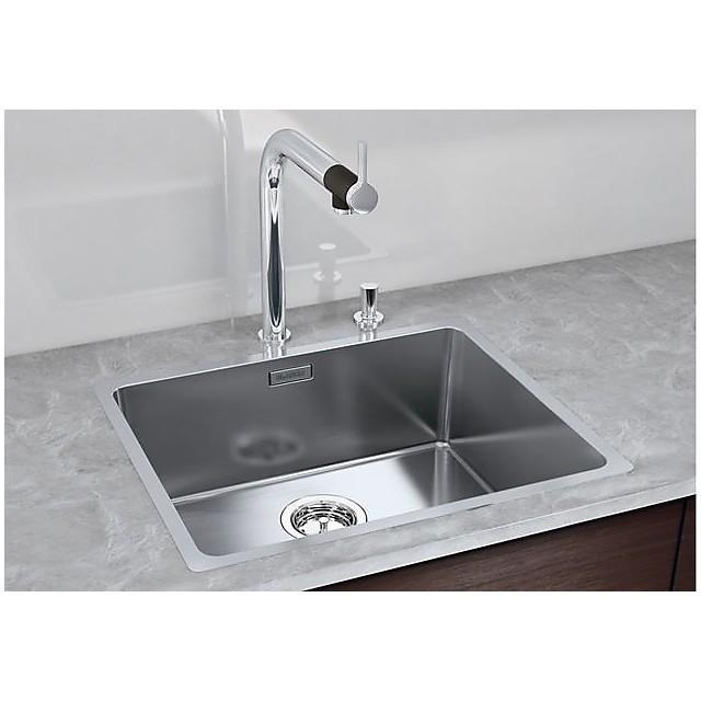 1518315 andano 500-if blanco lavello 54x44 1 vasca senza sgocciolatoio inox satinato