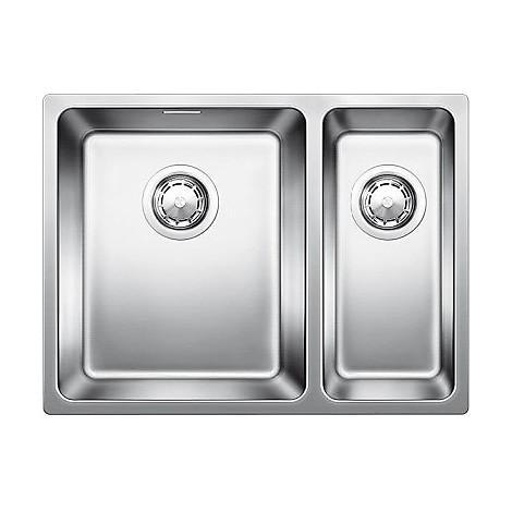 1518321 andano 340/180-u blanco lavello 59x44 2 vasche senza sgocciolatoio inox satinato