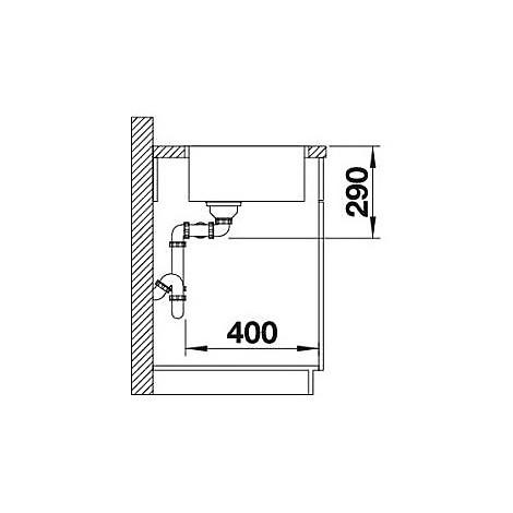 1518327 andano 400/400-if blanco lavello 87x44 2 vasche senza sgocciolatoio inox satinato