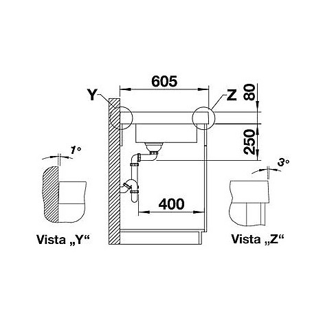 1518334 modex-m 60 tartufo blanco lavello 120x61 1 vasca sgocciolatoio a sinistra silgranit