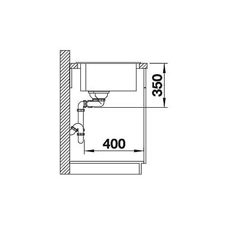1518345 pleon 9 antracite blanco lavello 86x50 2 vasche senza sgocciolatoio silgranit sopratop