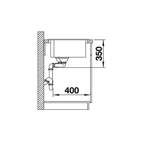 1518351 pleon 9 sabbia blanco lavello 86x50 2 vasche senza sgocciolatoio silgranit sopratop
