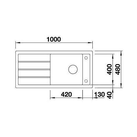 1518366 mevit xl 6 s bianco blanco lavello 100x48 1 vasca reversibile silgranit sopratop