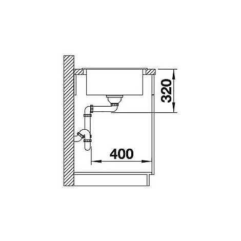 1518369 mevit xl 6 s sabbia blanco lavello 100x48 1 vasca reversibile silgranit sopratop