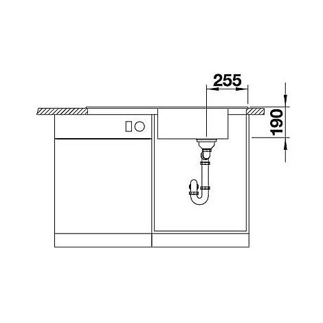 1518370 mevit xl 6 s tartufo blanco lavello 100x48 1 vasca reversibile silgranit sopratop