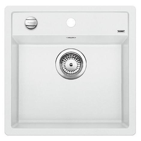 1518524 dalago 5 bianco blanco lavello 51x50 1 vasca senza sgocciolatoio silgranit sopratop