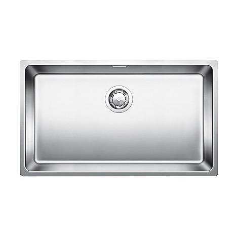 1518614 andano 700-u blanco lavello 74x44 1 vasca senza sgocciolatoio inox satinato sottotop