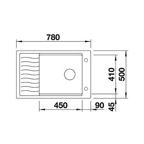 1518738 elon xl 6 s blanco lavello 78x50 1 vasca reversibile silgranit grigio seta sopratop