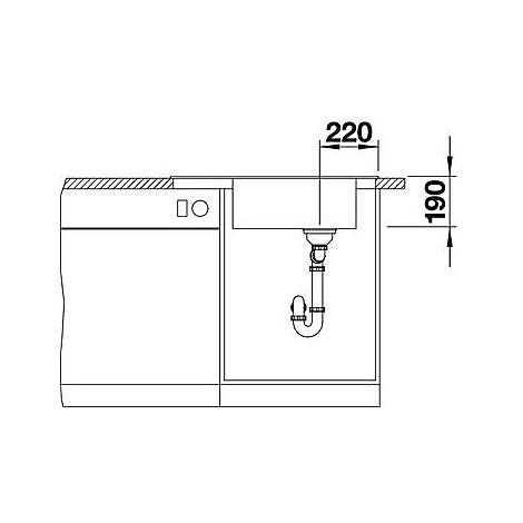 1518742 elon xl 6 s sabbia blanco lavello 78x50 1 vasca reversibile silgranit sopratop