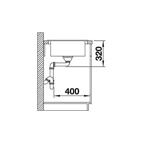 1518743 elon xl 6 s tartufo blanco lavello 78x50 1 vasca reversibile silgranit sopratop